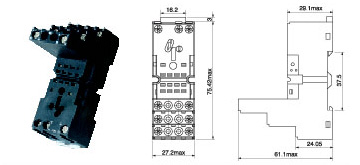 94.2(PYF-08BE) - Relay Socket